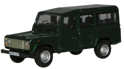 Oxford Diecast Green L/Rover Defender - 1:76 Scale