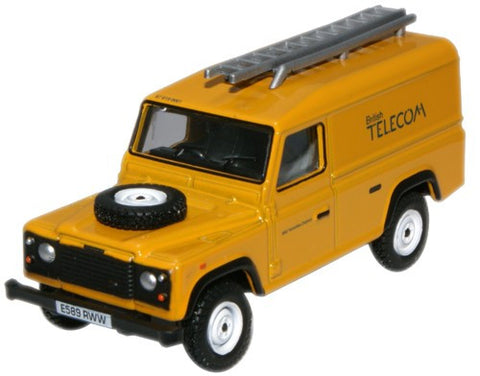 Oxford Diecast Land Rover Defender British Telecom - 1:76 Scale