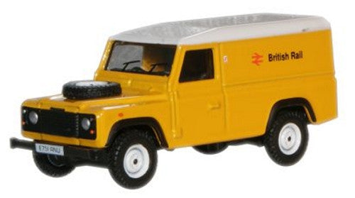 Oxford Diecast British Rail Land Rover Defender - 1:76 Scale