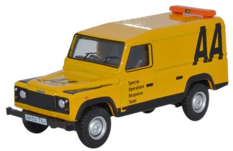 Oxford Diecast Land Rover Defender AA - 1:76 Scale