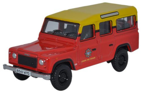 Oxford Diecast Land Rover Defender Station Wagon London Fire Brigade -