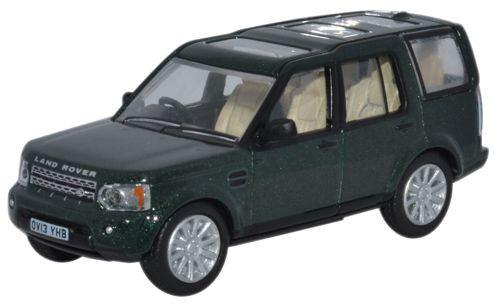 Oxford Diecast Land Rover Discovery 4 Aintree Green - 1:76 Scale