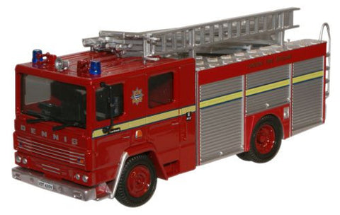 Oxford Diecast London FB Dennis RS Fire Engine - 1:76 Scale