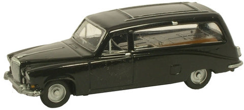 Oxford Diecast Daimler DS420 Black Hearse - 1:76 Scale