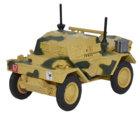 Oxford Diecast Dingo Scout Car 50th RTR  23rd Armoured Brigade Tunisia