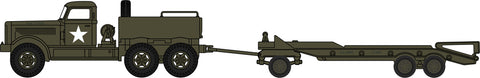 Oxford Diecast Diamond T Tank Transporter and Trailer US Army