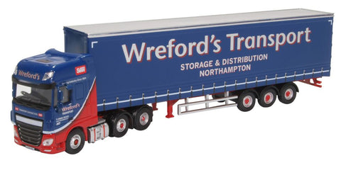 Oxford Diecast Daf XF Euro 6 Curtainside Wrefords