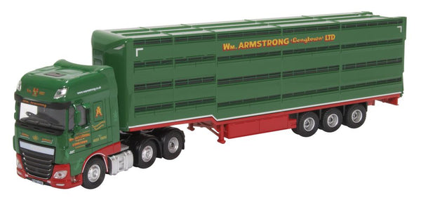 Oxford Diecast Daf XF  Houghton Parkhouse William Armstrong Livestock Trailer