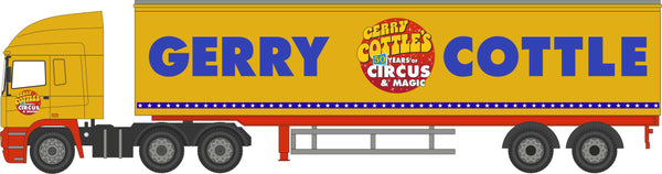 Oxford Diecast Gerry Cottles Circus ERF EC Box Trailer
