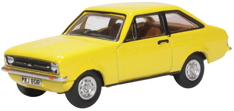 Oxford Diecast Signal Yellow Ford Escort MK2