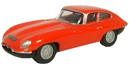 Oxford Diecast Jaguar E Type Carmen Red - 1:76 Scale