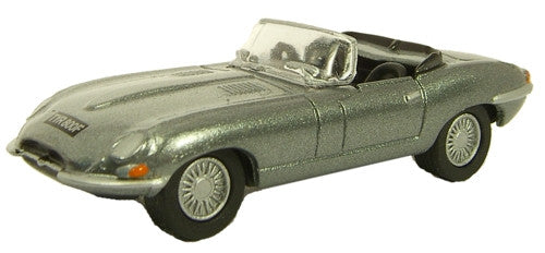 Oxford Diecast Jag E Type Silver Grey - 1:76 Scale