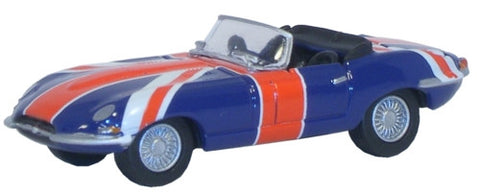 Oxford Diecast Jaguar E Type Union Jack - 1:76 Scale