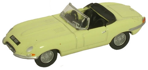 Oxford Diecast Jaguar E Type Pale Primrose - 1:76 Scale