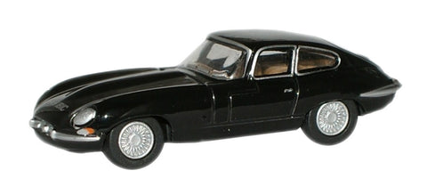 Oxford Diecast Black Jaguar E Type Coupe - 1:76 Scale