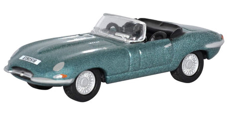 Oxford Diecast Jaguar E Type Silver Blue