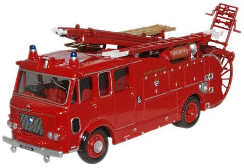 Oxford Diecast London Fire Dennis F106 Rear Pump - 1:76 Scale