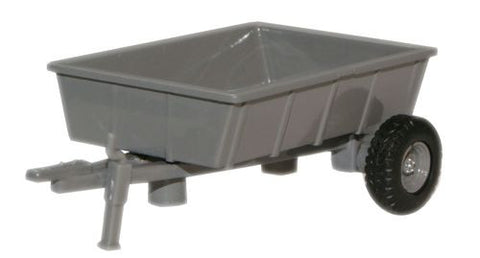 Oxford Diecast Farm Trailer Grey - 1:76 Scale