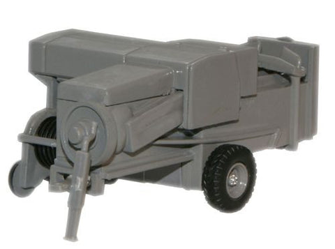 Oxford Diecast Baler Grey - 1:76 Scale