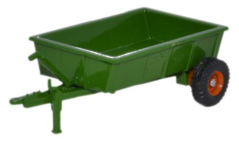 Oxford Diecast Farm Trailer Green - 1:76 Scale