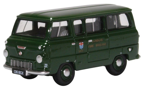 Oxford Diecast Ford 400e Minibus London Fire Brigade - Green