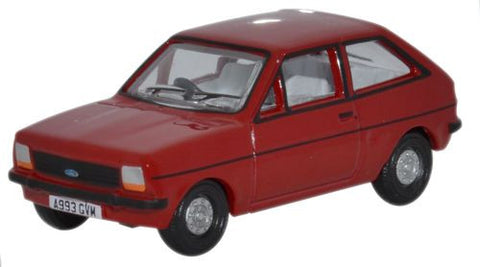 Oxford Diecast Venetian Red Ford Fiesta MkI - 1:76 Scale