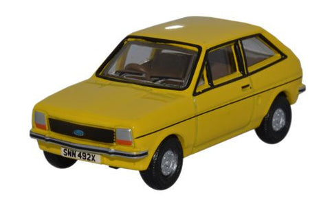 Oxford Diecast Ford Fiesta MkI Jasmine Yellow - 1:76 Scale