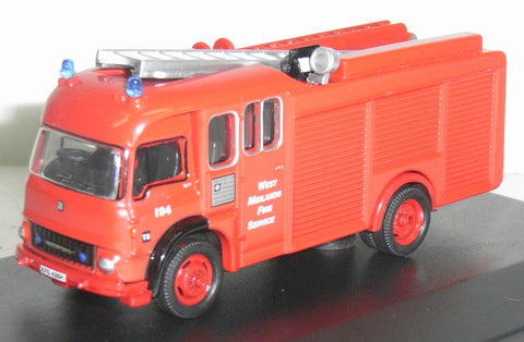 Oxford Diecast Bedford TK/ Carmichael Fire Engine - 1:76 Scale