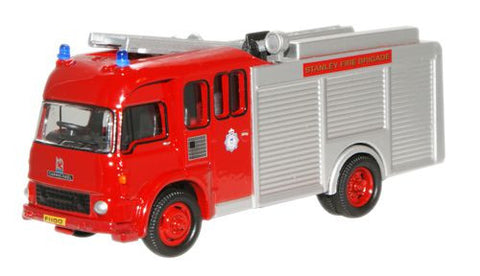 Oxford Diecast Stanley Fire Brigade Bedford TK Fire Appliance - 1:76 S