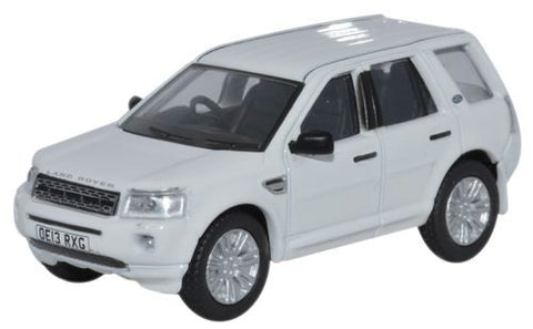 Oxford Diecast Land Rover Freelander Fuji White - 1:76 Scale