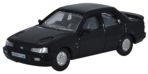 Oxford Diecast Ford Sierra Sapphire Ebony Black - 1:76 Scale