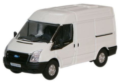 Oxford Diecast Frozen White New Ford Transit Van (M.Roof) - 1:76 Scale