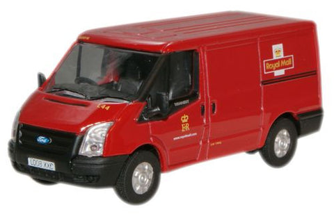 Oxford Diecast Royal Mail New Ford Transit Van (L.Roof) - 1:76 Scale