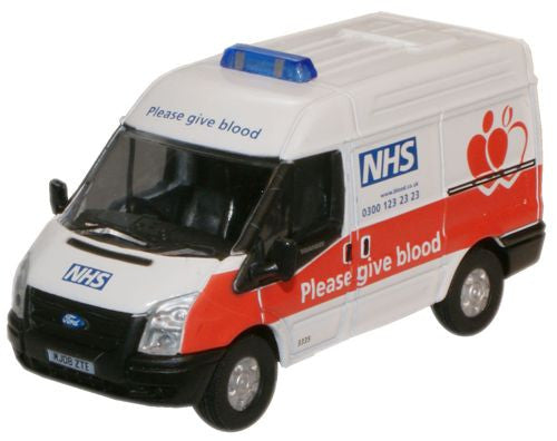 Oxford Diecast NHS Blood Donor Van Ford Transit SWB Med - 1:76 Scale