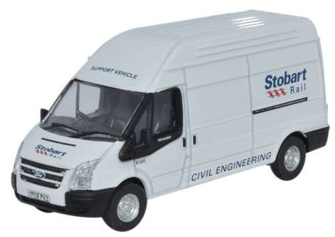 Oxford Diecast Ford Transit LWB High Roof Stobart - 1:76 Scale