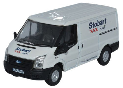 Oxford Diecast Ford Transit SWB Low Roof Stobart Rail - 1:76 Scale