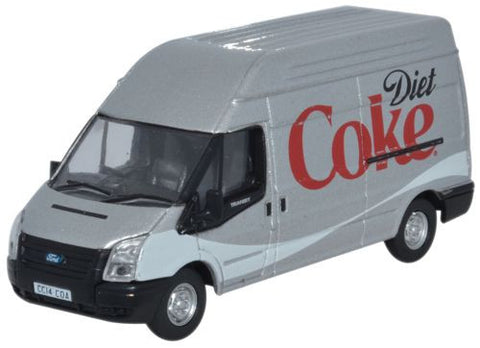 Oxford Diecast Ford Transit LWB High Roof Diet Coke - 1:76 Scale