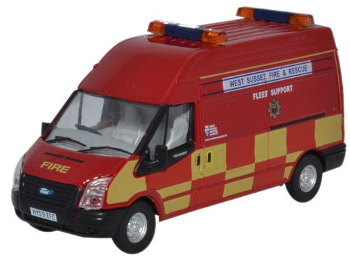 Oxford Diecast Ford Transit LWB High Roof West Sussex Fire & Rescue -