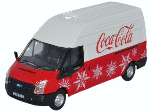 Oxford Diecast Ford Transit LWB High Coca Cola Xmas