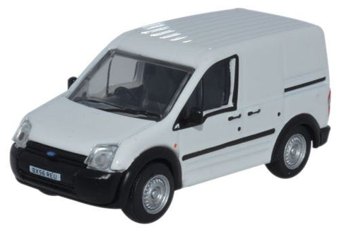 Oxford Diecast Ford Transit Connect White - 1:76 Scale