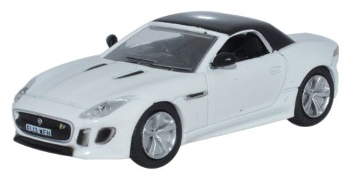 Oxford Diecast Jaguar F Type Polaris White - 1:76 Scale