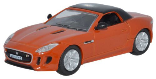 Oxford Diecast Jaguar F Type Firesand - 1:76 Scale