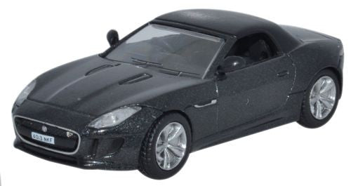 Oxford Diecast Jaguar F Type Stratus Grey - 1:76 Scale