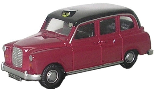 Oxford Diecast FX4 Taxi Maroon & Black - 1:76 Scale