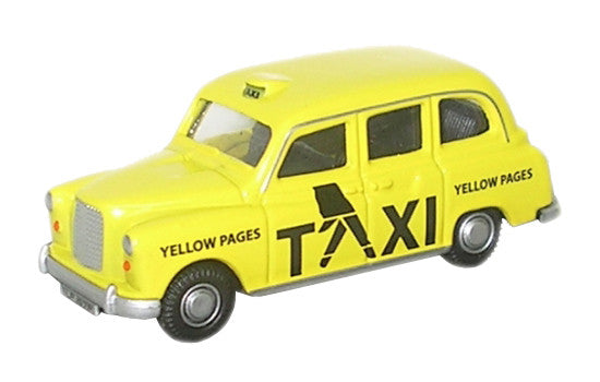 Oxford Diecast FX4 Taxi Yellow Pages - 1:76 Scale