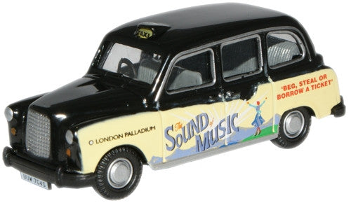Oxford Diecast Sound of Music FX4 Taxi - 1:76 Scale