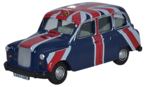 Oxford Diecast FX4 Taxi Union Jack - 1:76 Scale
