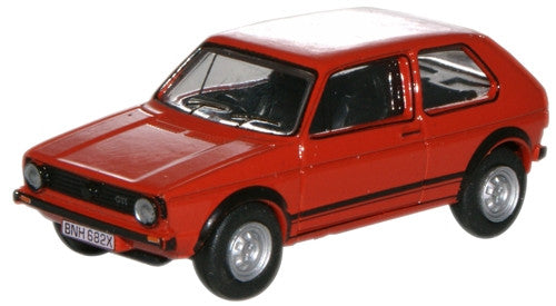 Oxford Diecast Mars Red Golf GTI - 1:76 Scale