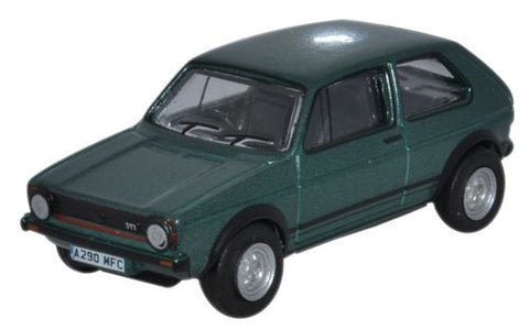 Oxford Diecast Volkswagen Golf GTI Lhasa Green Metallic - 1:76 Scale