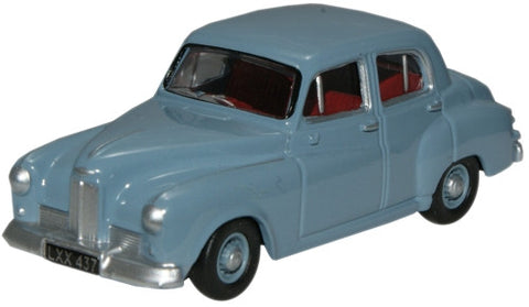 Oxford Diecast Humber Hawk Windsor Blue - 1:76 Scale